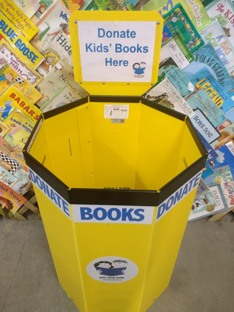 Cleveland Kids' Book Bank book drive collection bin