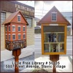 Cleveland Kids' Book Bank Little Free Library designed to look like a house