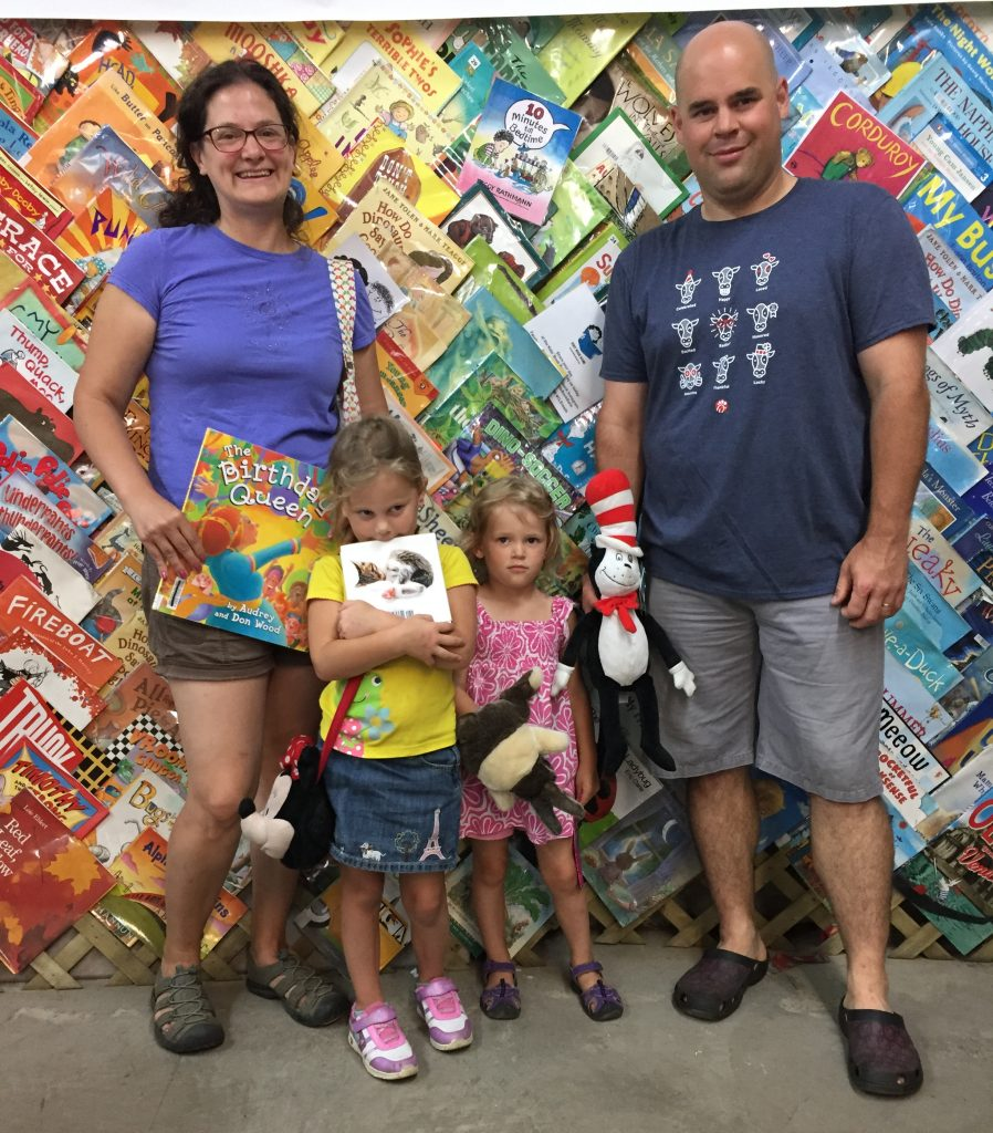 Family at the Cleveland Kids' Book Bank