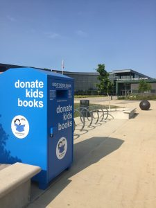 Cleveland Kids' Book Bank collection bin at Strongsville Middle School