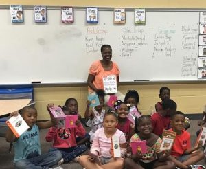 Cleveland Kids' Book Bank volunteer reader
