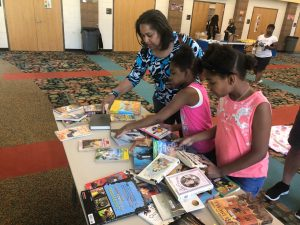 Ice cream social at Maple Heights Schools with the Cleveland Kids' Book Bank