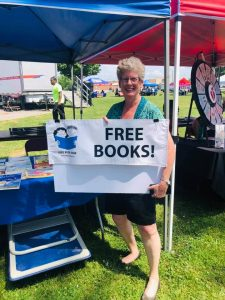 Cleveland Kids' Book Bank staffer at local festival