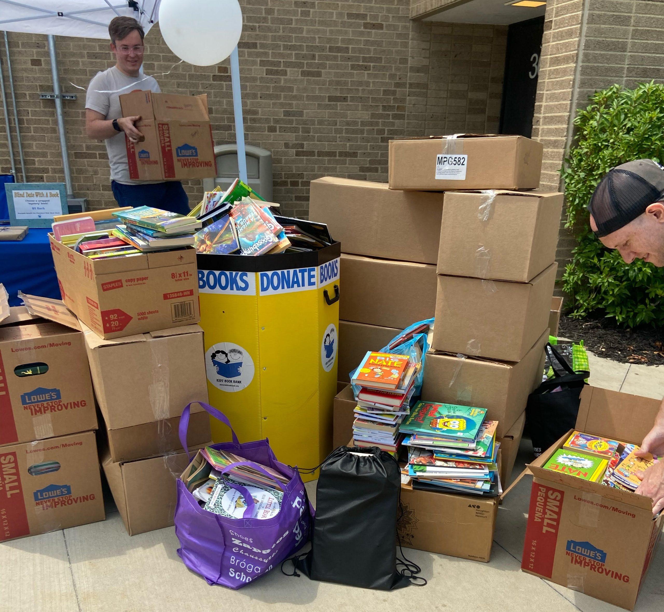 Cleveland Kids' Book Bank book drive at Lakewood High School